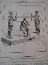 Caricature 1885 Nouveau Jouet de la Guerre La Scie du jour !!!