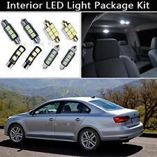 11PCS Error Free White LED Interior Lights Package kit Fit 2011-2014 VW Jetta J1