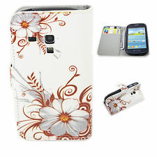 Flower Print Leather Stand Wallet Cover Case For Samsung Galaxy S3 Mini i8190