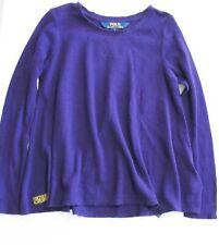Polo Ralph Lauren Girls Long Sleeve Shirt College Purple Sz 6 - NWT