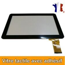 VITRE ECRAN TACTILE POUR TABLETTE THOMSON TEO10-8G NOIR avec adhésif 3M