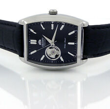 ORIENT MEN JAPAN MADE AUTOMATIC SOLID STEEL 37mm X 46mm LEATHER FDBAF002B0