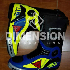 VR 46 Valentino Rossi Motorcycle Custom Made Racing Shoe Boots
