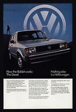 1982 VOLKSWAGEN RABBIT Diesel Car - Nothing Else Is A VW - VINTAGE AD