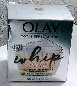 Olay Total Effects Whip Finish Active Moisturizer SPF 25 1.7oz Exp.9/2021