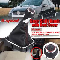 6 Speed Gear Shift Knob Gaiter Boot Cover For VW Golf 5 6 MK5 MK6 Jetta  KN!