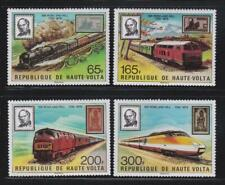 LRT49 - LOCOMOTIVE RAILROAD TRAIN STAMPS HAUTE VOLTA 1979 TRAINS MNH