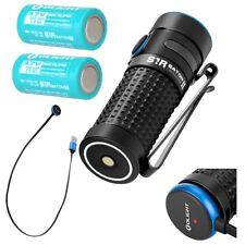 2 Batteries Bundle: Olight S1R II Baton 1000 lumen rechargeable LED flashlight
