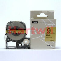 EPSON LC-3KBM Compatible LC Serial Label Tape Black on Golden 9mm 8m  3/8 x 26""