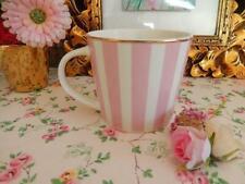 Edle Tasse Rosa m. Goldrand Becher Trinkbecher Kaffeebecher Teetasse