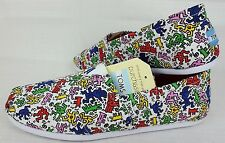 Toms Mens Classics Sz 10 Keith Haring Pop New York City Subway Art Shoes Slip On