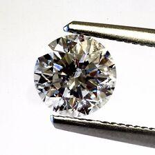 Clarity Enhanced round loose diamond 1.32ct SI2 D E vintage 6.67 X 4.48 MM