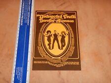 1972 The Undisputed Truth San Francisco Concert Handbill, Randy Tuten Art