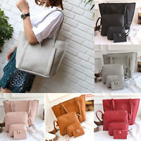 4pc PU Leather Bag Women Handbag Lady Shoulder Tote Purse Messenger Satchel Set