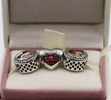 AUTHENIC PANDORA Disney,Holiday Mickey and Minnie 3 Charm set. COMPLETE #1646