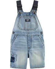 NWT Oshkosh Bgosh Size 3T Patch Denim Shortalls Overalls NEW