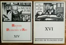 MAURICE LANGASKENS (1884-1946) / LOT VAN 2 WERKEN / ZW-W LITHO / MUSEE DU LIVRE