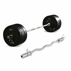 """120cm  4' EZ Curl Bar Olympic Barbell for 2"""" Hole Weight Plate Sets Lifting"""