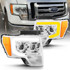 2009-2014 Ford F-150 Truck Chrome Projector Headlights w/ LED Sequential /DRL