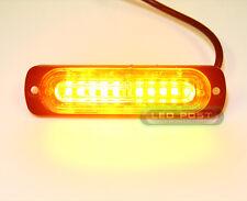 AMBER Mini Strobe Flashing 10 LED Slim Light Truck, Grill, Bumper