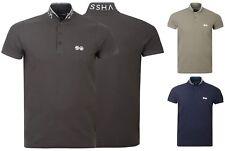 Camisa Polo de Hombre Crosshatch Algodón con Cuello Camiseta Casual Manga Corta