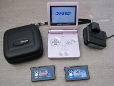 Genuine Pink Nintendo Gameboy SP Bundle Case Charger Carts Sypro Micro Machines