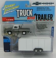 2018 Johnny Lightning *TRUCK & TRAILER 2A* 1965 Chevy Pickup w/ENCLOSED TRAILER