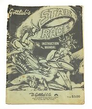 Vintage Gottlieb's Star Race Instruction Manual Pinball Machine Playboard Info +