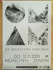 OF MONSTERS AND MEN 2015 MÜNCHEN - orig.Concert Poster -- Konzert Plakat  A1 NEU