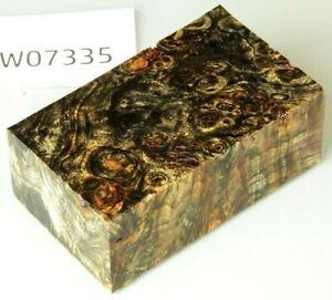 Pappel Maser bi-color stabilisiert | 91x53x32 | puq stabwood | poplar burl 7335