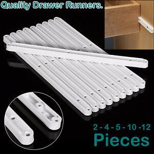 PLASTIC DRAWER RUNNERS 16MM FOR KITCHEN BEDROOM CABINET DRAW SLIDER RUNNER RAIL
