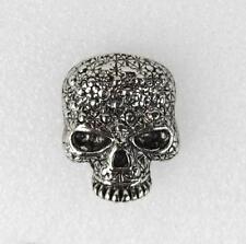 Biker Rocker Punk Bling Skull Totenkopf Schädel Totenschädel Druckknopf Knopf