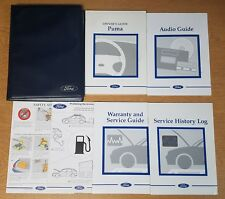 GENUINE FORD PUMA HANDBOOK OWNERS MANUAL 1997–2001 SERVICE BOOK PACK F-891
