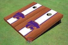 Kansas State University Wildcats White Rosewood Matching Long Strip Custom Cornh