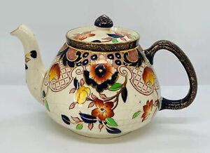 Antique ROYAL STANLEY C&Co LONGTON Edwardian Art Nouveau Teapot Repaired 1903-19