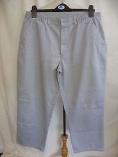 "Mens Trousers Maine grey semi-elasticated waist 36"" inside leg 27"" straight 7601"