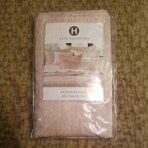 Hotel Collection 2 KING Pillowshams Woodrose Pima Cotton $185 New