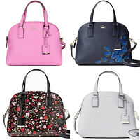 Kate Spade Cameron Street Lottie Satchel Crossbody Bag Pink Floral Stone Blue