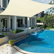 Toldo Vela de Sombra Rectangular Triangular Protección Rayos UV Exterior Jardín