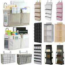 Hanging Over Door Organiser Storage Pocket Hook Wardrobe Holder Home Shelf Bags