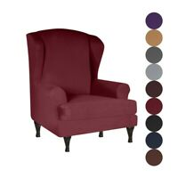 9 Colors Wing Back Arm Chair Slipcovers Elastic Sofa Covers Soft Protector 2Pcs