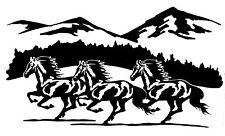 "WINDOW, VEHICLE, TRAILER, ""WILD  HORSE MOUNTAIN SCENE""  VINYL DECAL, STICKER"