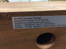 Kare Design Tischleuchte Rectangular Wood Nature Baumwolle/Akazienholz LAMPE