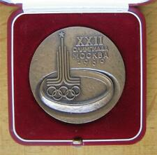 Official Olympic Participation Medal Moscow 1980 in Original Case Genuine