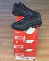 New Nike Air Max 95 Black Grey Red Men's Size 8.5-9.5 Sneakers DD7114-001