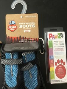 Arcadia Trail 4 pc Warm Weather Boots Booties For Dogs, Small,New. +PawZ Bonus