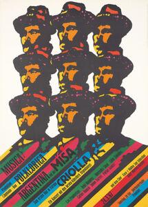 Original Vintage Affiche Argentine Folk Musique Festival Gunther Kieser 1960s