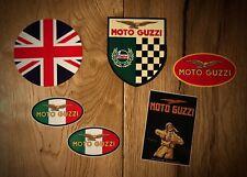 6x Moto Guzzi Aufkleber UK England Motorrad Oldtimer Vintage Adler Retro Set 17