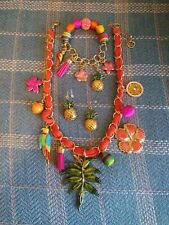 Erica Lyons Necklace, Bracelet and Earring Set  Tropical jewelry summer