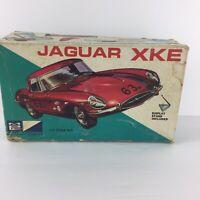 MPC Jaguar XKE 1/32 Box, Instructions,partial Kit, Decals ,Vintage